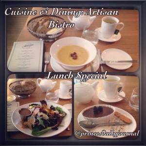 Artisan Bistro's Lunch Special