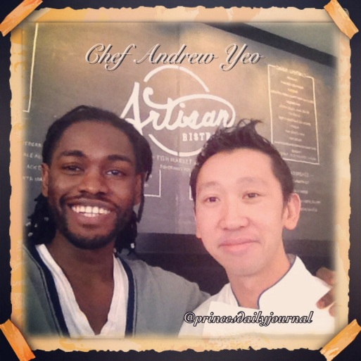 Me w/ Chef Andrew Yeo at the Ritz Carlton Hotel