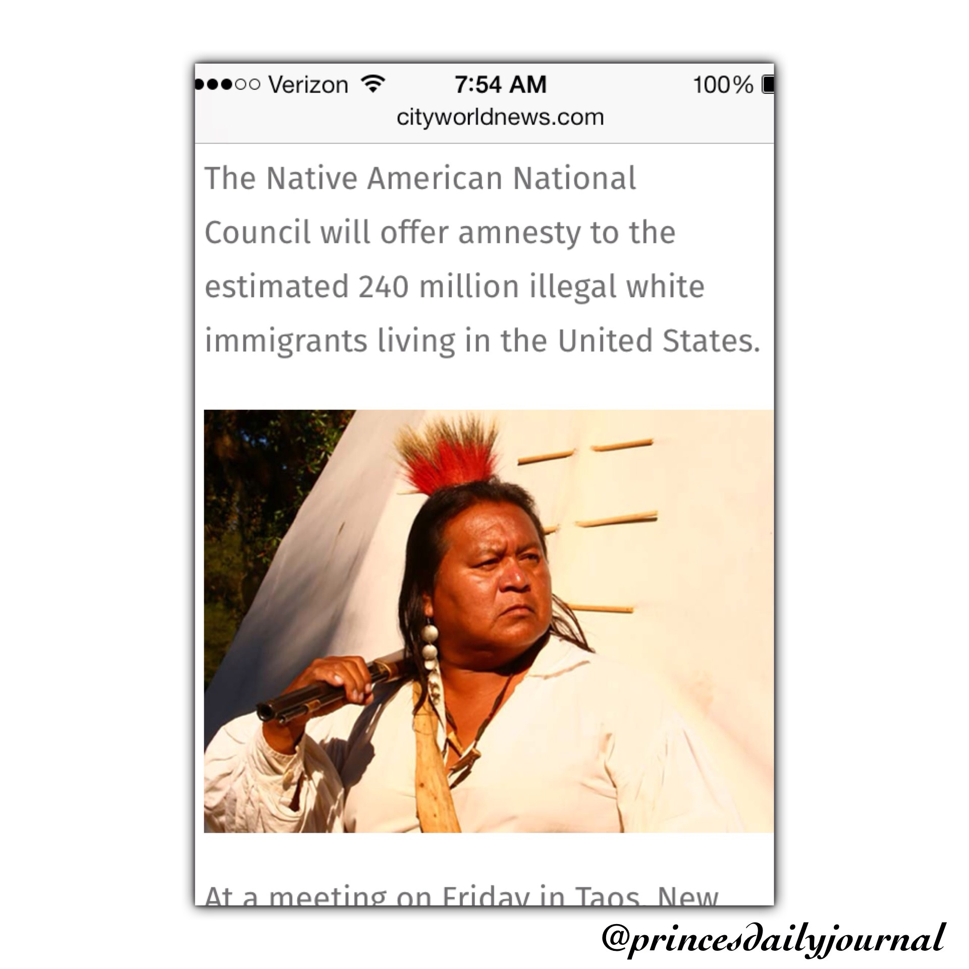 Weekly Political Tweet: If Native Americans Can Pass